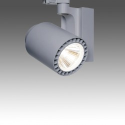 LED 3ph.-Strahler CHRIS Micro silbergrau